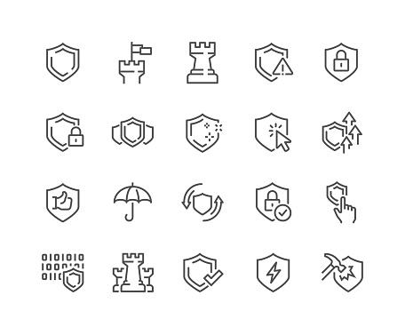 Line Defense Icons
