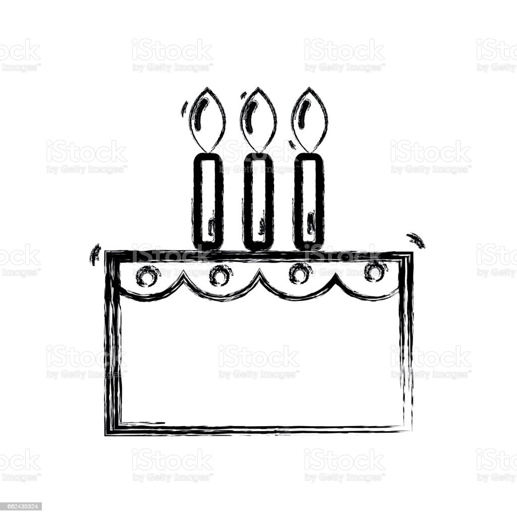line delicious cake happy birthday celebration royalty-free line delicious cake happy birthday celebration stock vector art & more images of anniversary