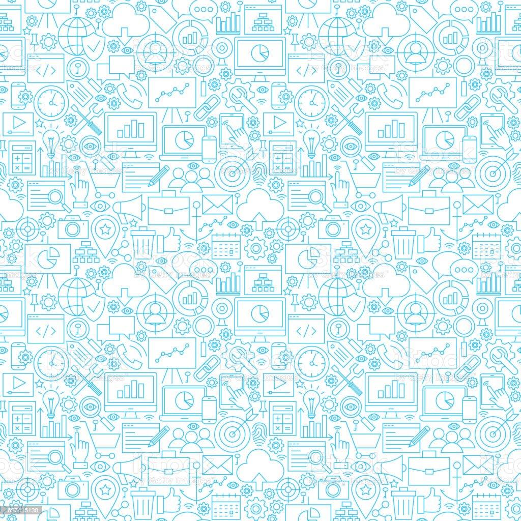 Line Development White Tile Pattern vector art illustration
