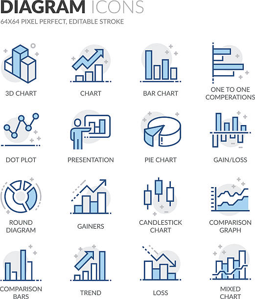 Line Diagram Icons - Illustration vectorielle