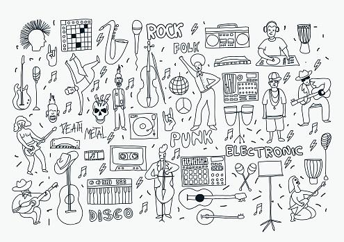 line doodle music