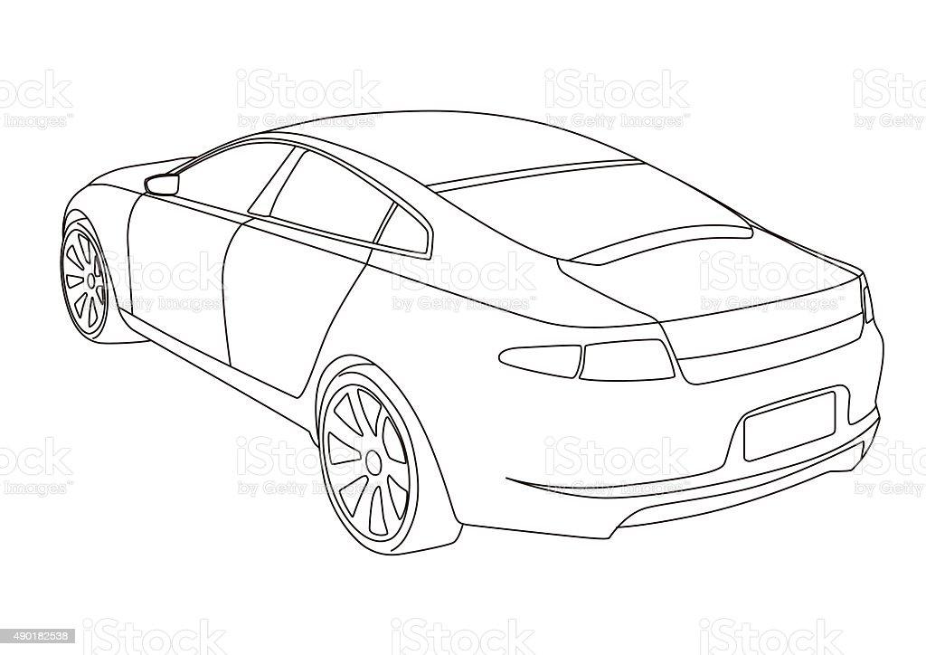 Linie Zeichnen Auto Illustrationen Stock Vektor Art Und Mehr Bilder