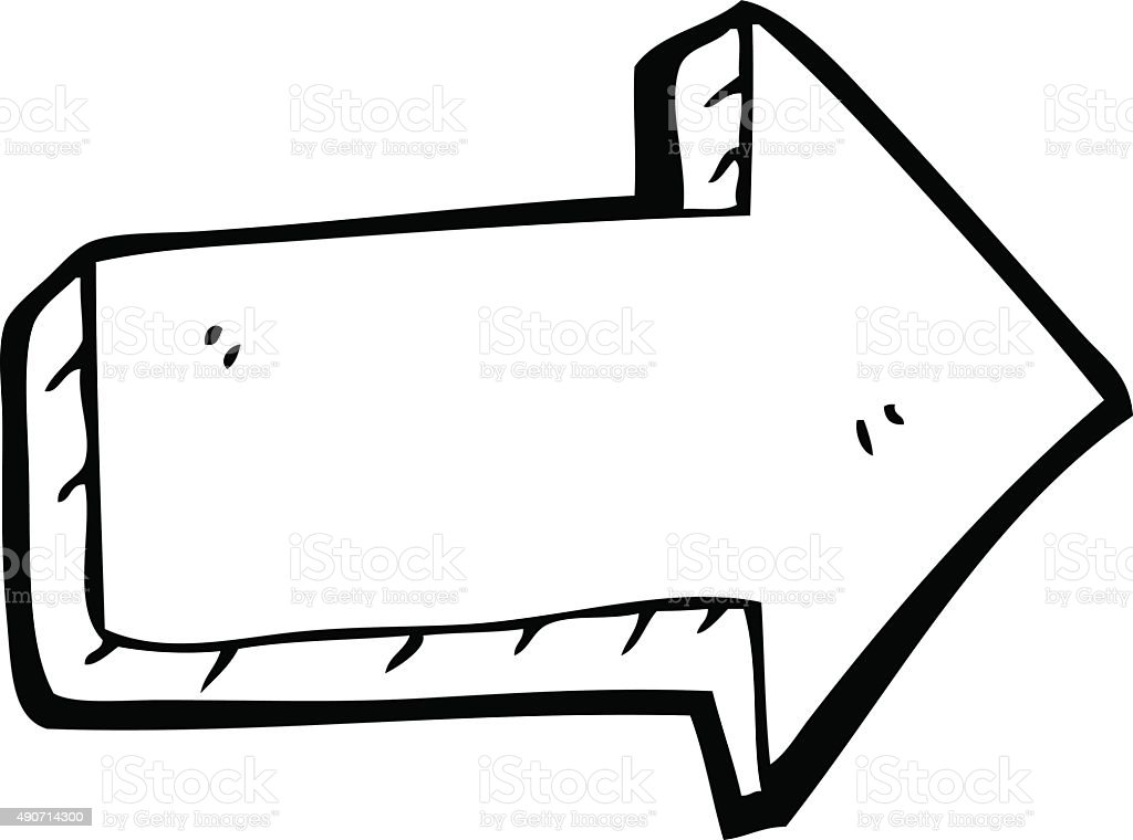 Drawing Vector Lines In Photo : Line drawing cartoon arrow stock vector art more images