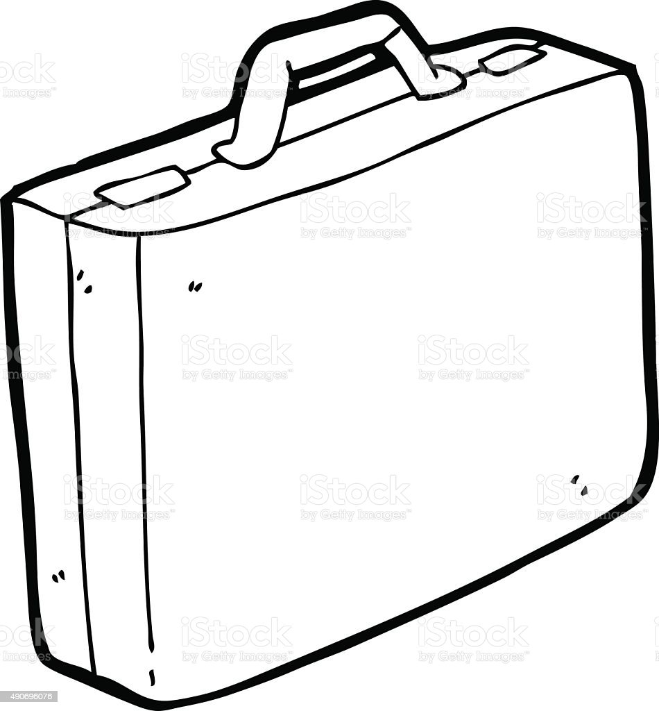 Line Drawing Cartoon : Line drawing cartoon briefcase stock vector art more