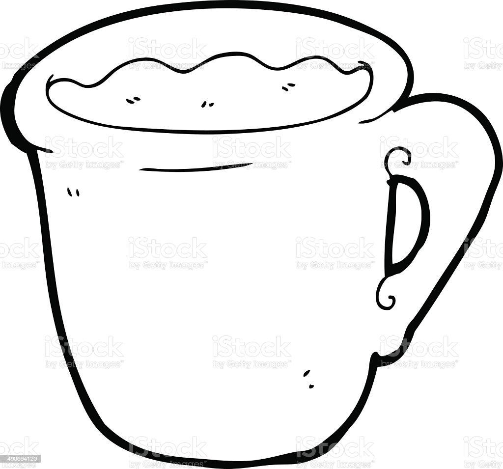 Line Drawing Cartoon Coffee Mug Stock Illustration Download Image Now Istock