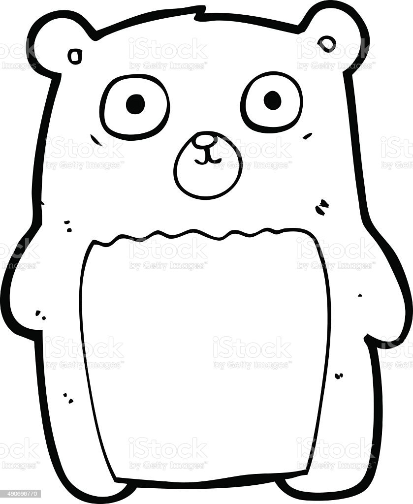 line drawing cartoon funny teddy bear royalty free stock vector art