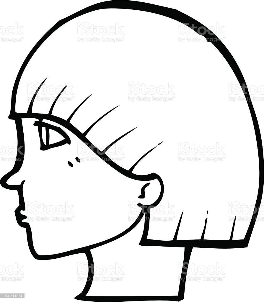 line drawing cartoon side profile face stock vector art more