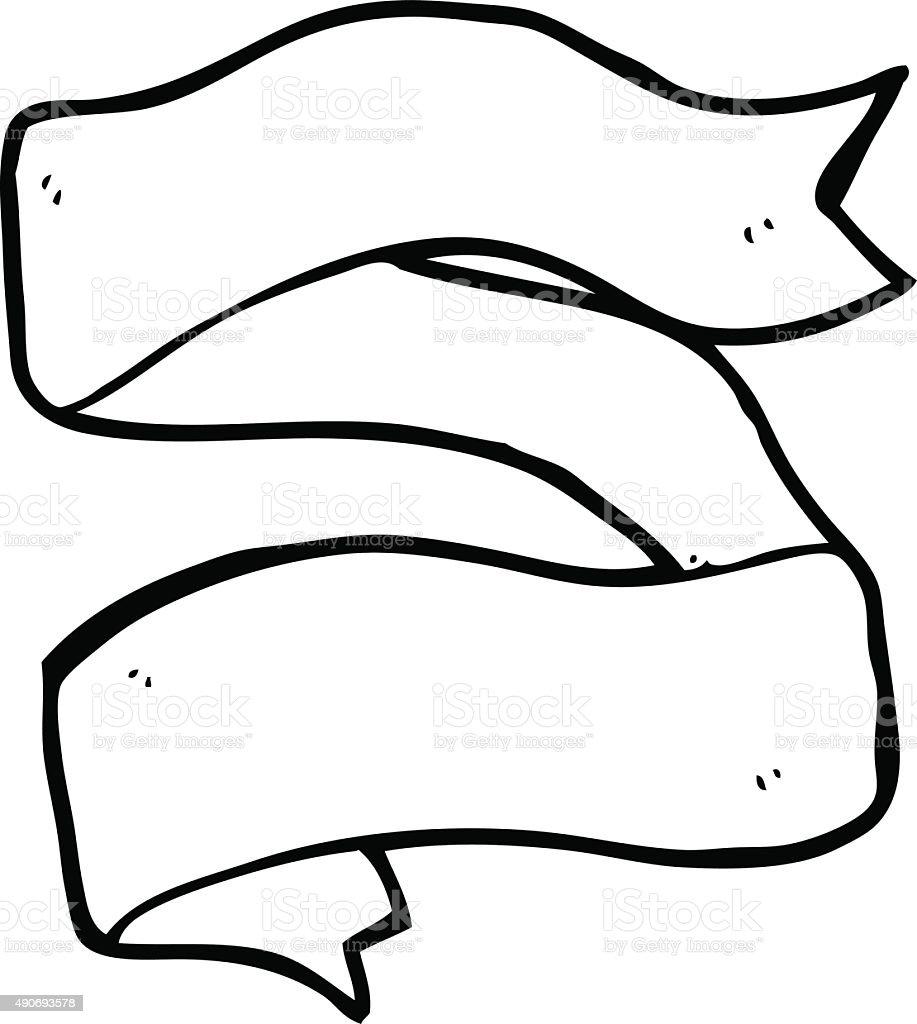 Ligne dessin anim dessins de tatouage de banni re - Dessin banderole ...