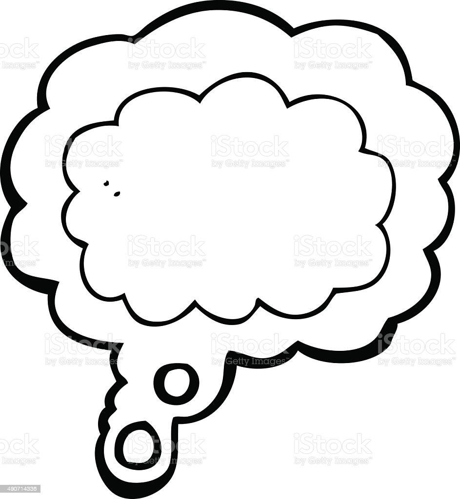 Vetores De Desenho Desenho De Linha De Pensamento Nuvem E Mais