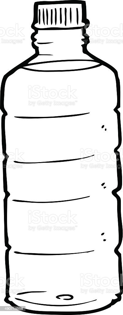 Line Drawing Cartoon Water Bottle Stock Illustration Download Image Now Istock