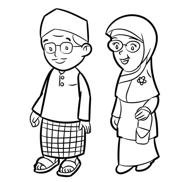 1 290 Hijab Drawing Illustrations Royalty Free Vector Graphics Clip Art Istock