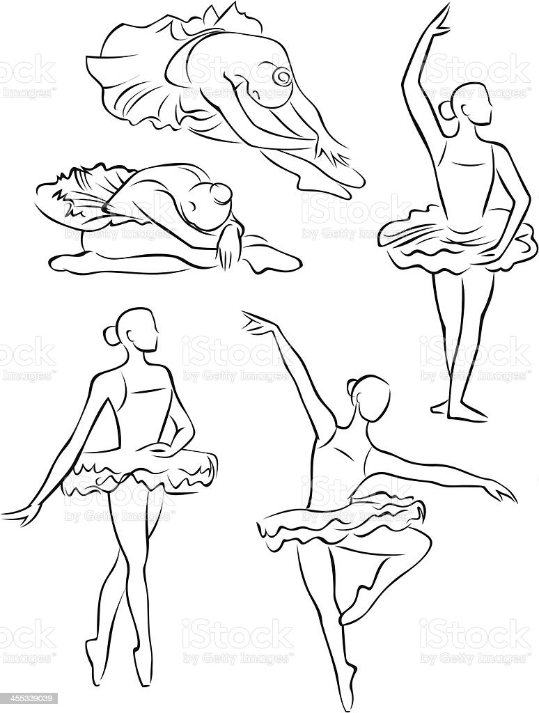 Desenho De Linha Sapatilhas 2 Vetor E Ilustracao Royalty Free