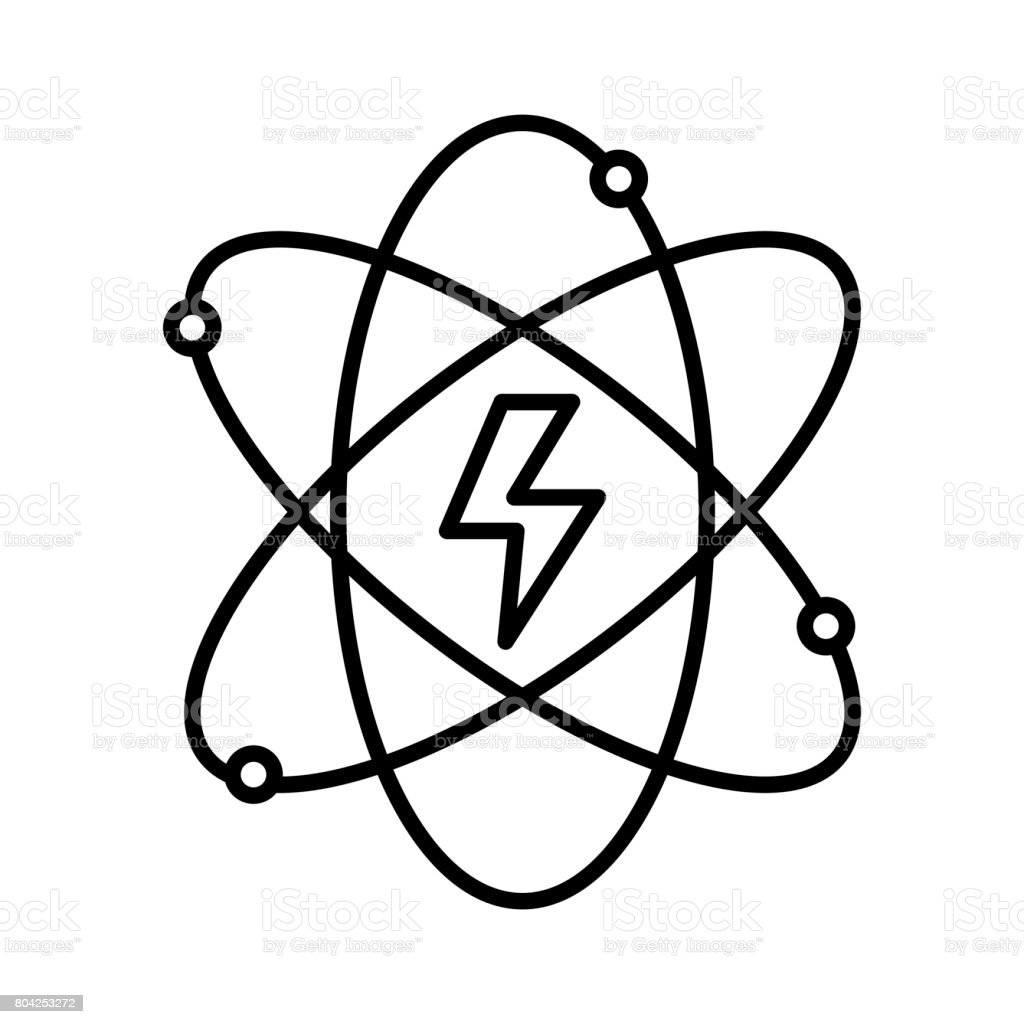 Line energy hazard symbol of power industry with orbits stock line energy hazard symbol of power industry with orbits royalty free line energy hazard symbol biocorpaavc Images