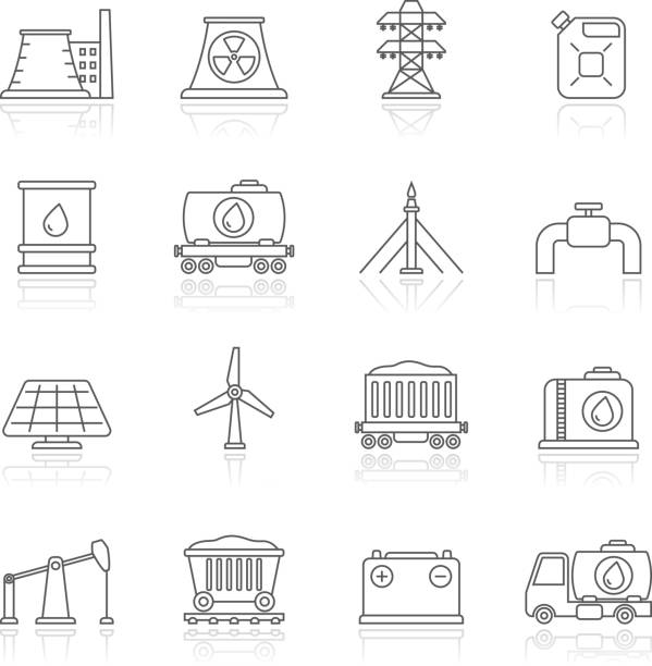 Royalty Free Natural Gas Field Clip Art, Vector Images
