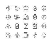 istock Line Energy Types Icons 1302936686