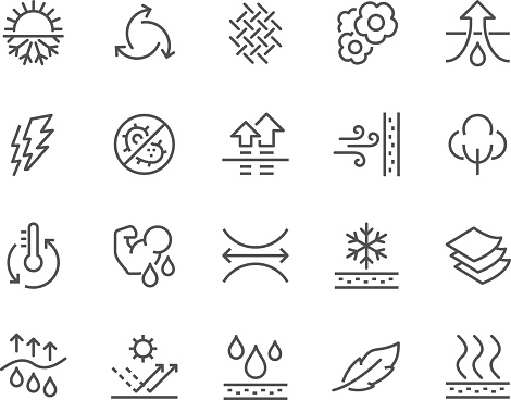 Line Fabric Feature Icons