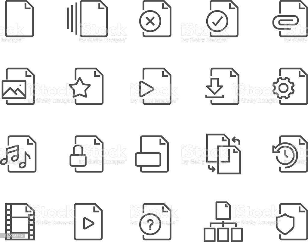 Line File Icons vector art illustration