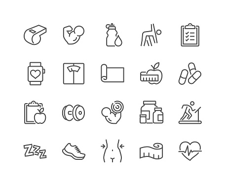 Line Fitness Icons