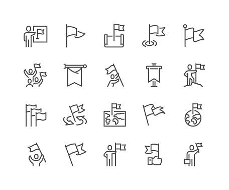 Line Flag Icons