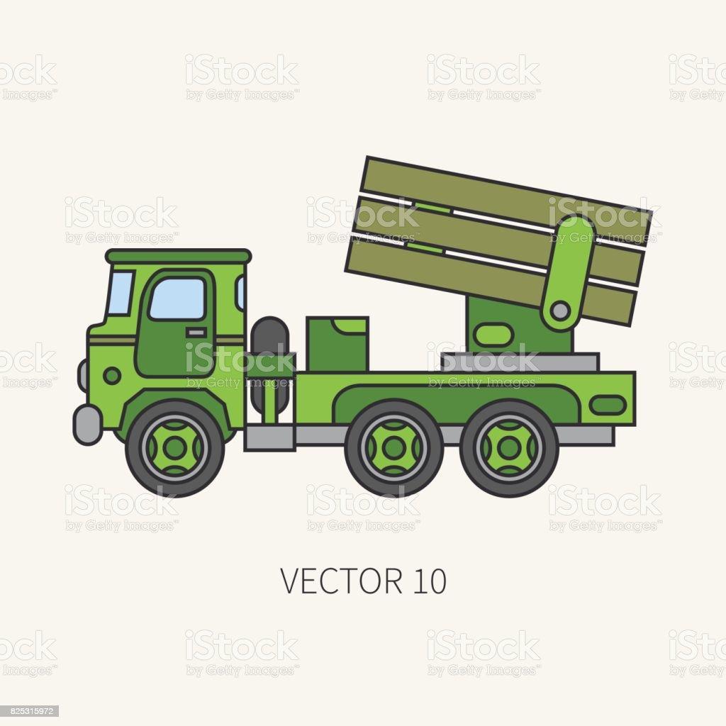Icono De Vector De Color Plano Línea Blindados Sistemas Reactivos De ...