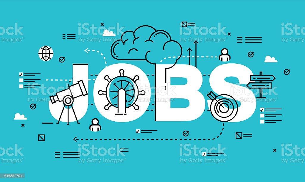 Line flat vector business design for job candidate evaluation vector art illustration
