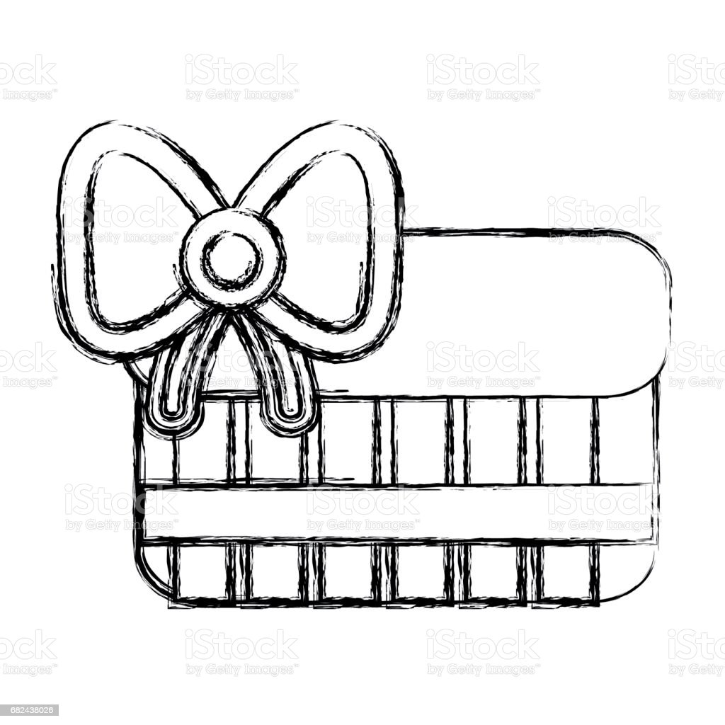 line gift present with ribbon decoration to celebrate party royalty-free line gift present with ribbon decoration to celebrate party stock vector art & more images of anniversary