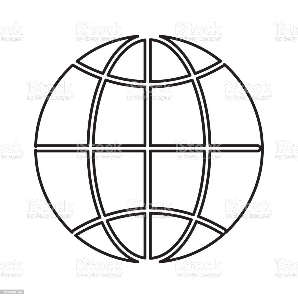 Line global symbol to earth planet stock vector art more images of line global symbol to earth planet royalty free line global symbol to earth planet stock buycottarizona Choice Image