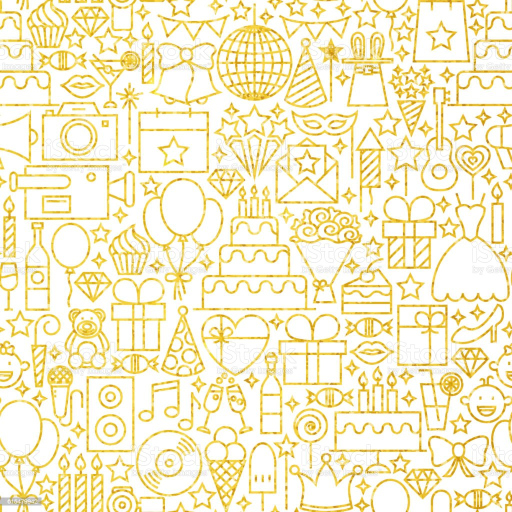 line gold white party tile pattern stock vector art more images of