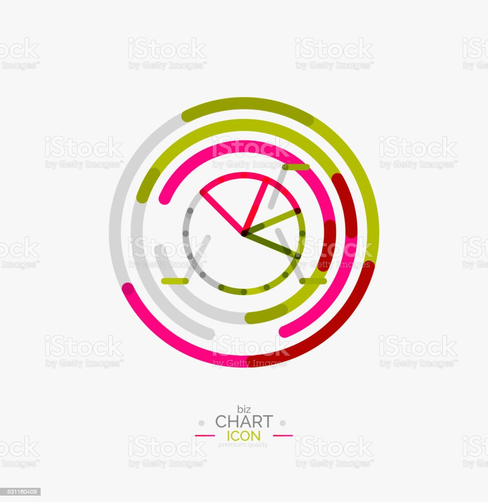 line graph chart icon stock vector art & more images of 2015