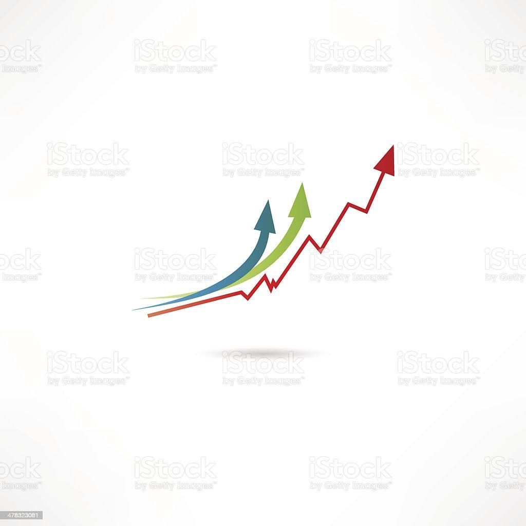 Line Graph Icon vector art illustration
