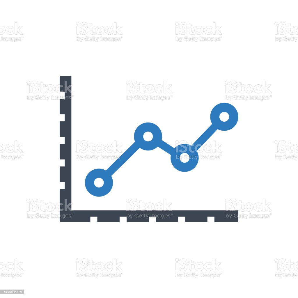 line graph icon stock vector art & more images of analyzing