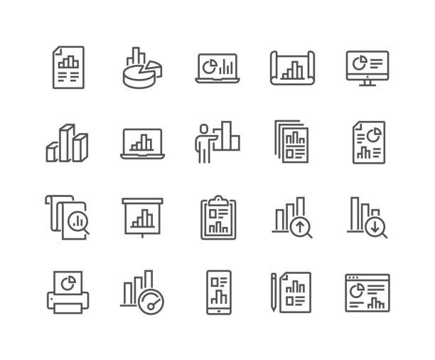 illustrations, cliparts, dessins animés et icônes de icônes de graphe de ligne - graph