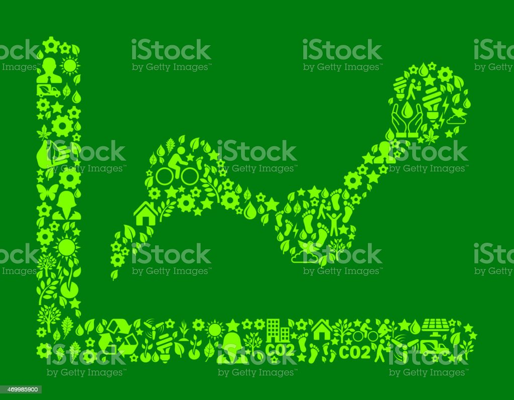Line Graph Environmental Conservation and Nature computer icon...