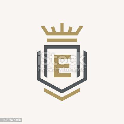 Line graphics monogram. Elegant art logo design. Letter E. Graceful template. Business sign, identity for Restaurant, Royalty, Boutique, Cafe, Hotel, Heraldic, Jewelry, Fashion. Vector elements