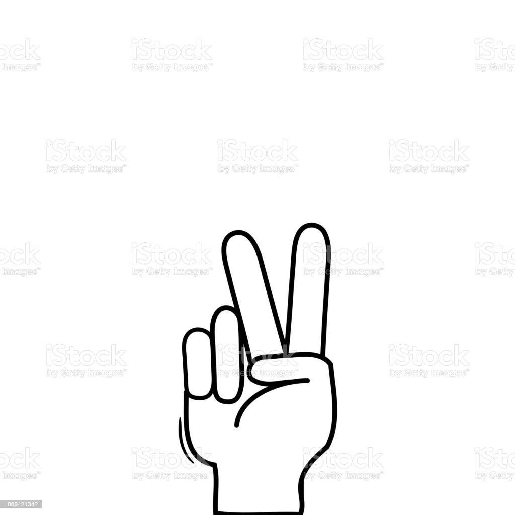 Vetores De Mao De Linha Com Simbolo De Gesto De Paz E Amor E Mais