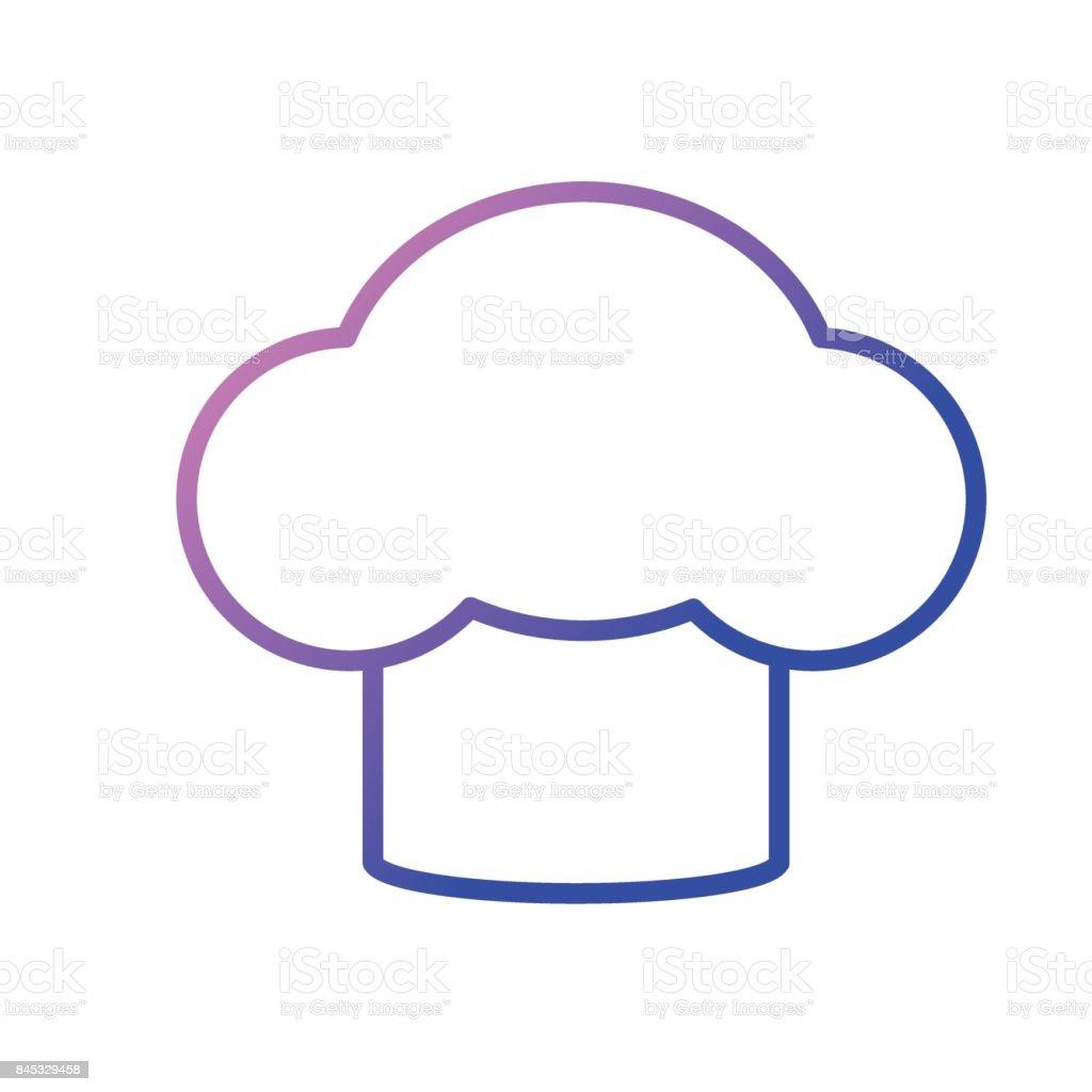 Ilustración de Línea Sombrero Chef Utensilios Cocina y más banco de ...