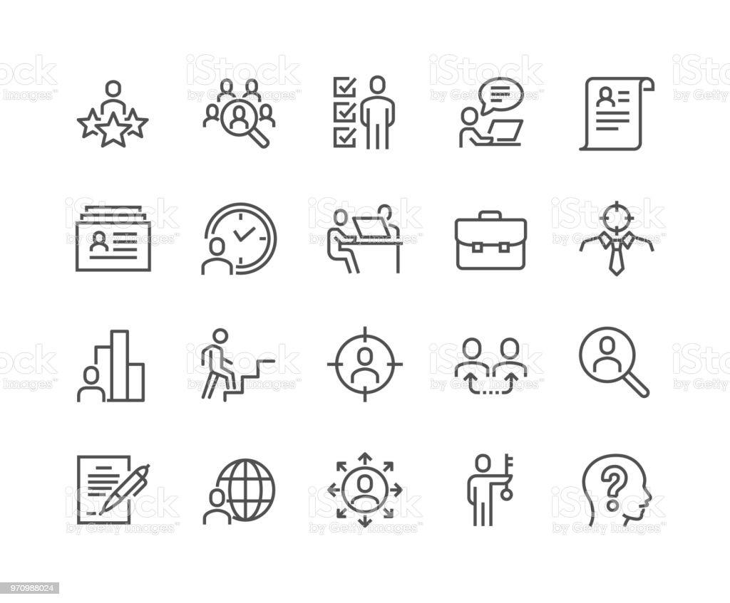 Línea cabeza caza iconos ilustración de línea cabeza caza iconos y más vectores libres de derechos de acariciar libre de derechos