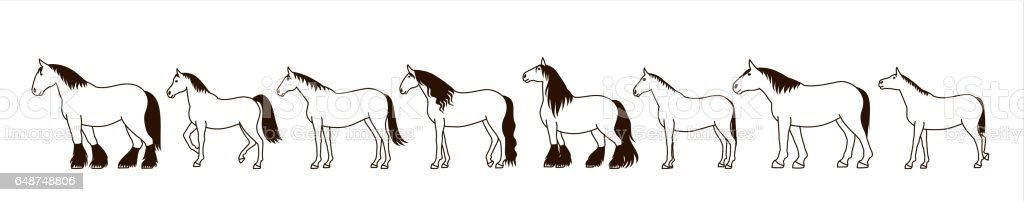 line Horse banner royalty-free line horse banner stock vector art & more images of agriculture