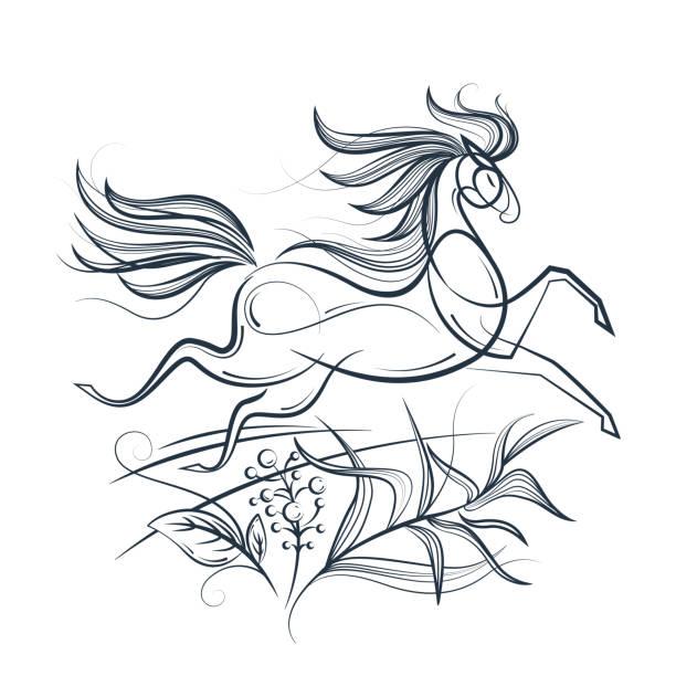 pferde bilder zum ausmalen stockvektoren und grafiken