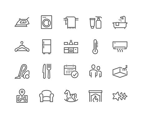 Line Hotel Icons