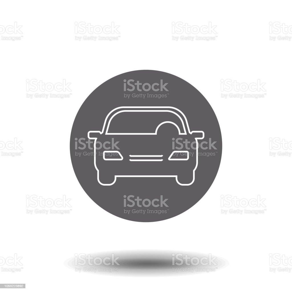 Line Icon Car Symbol For Web Site Design Logo App Ui Vector