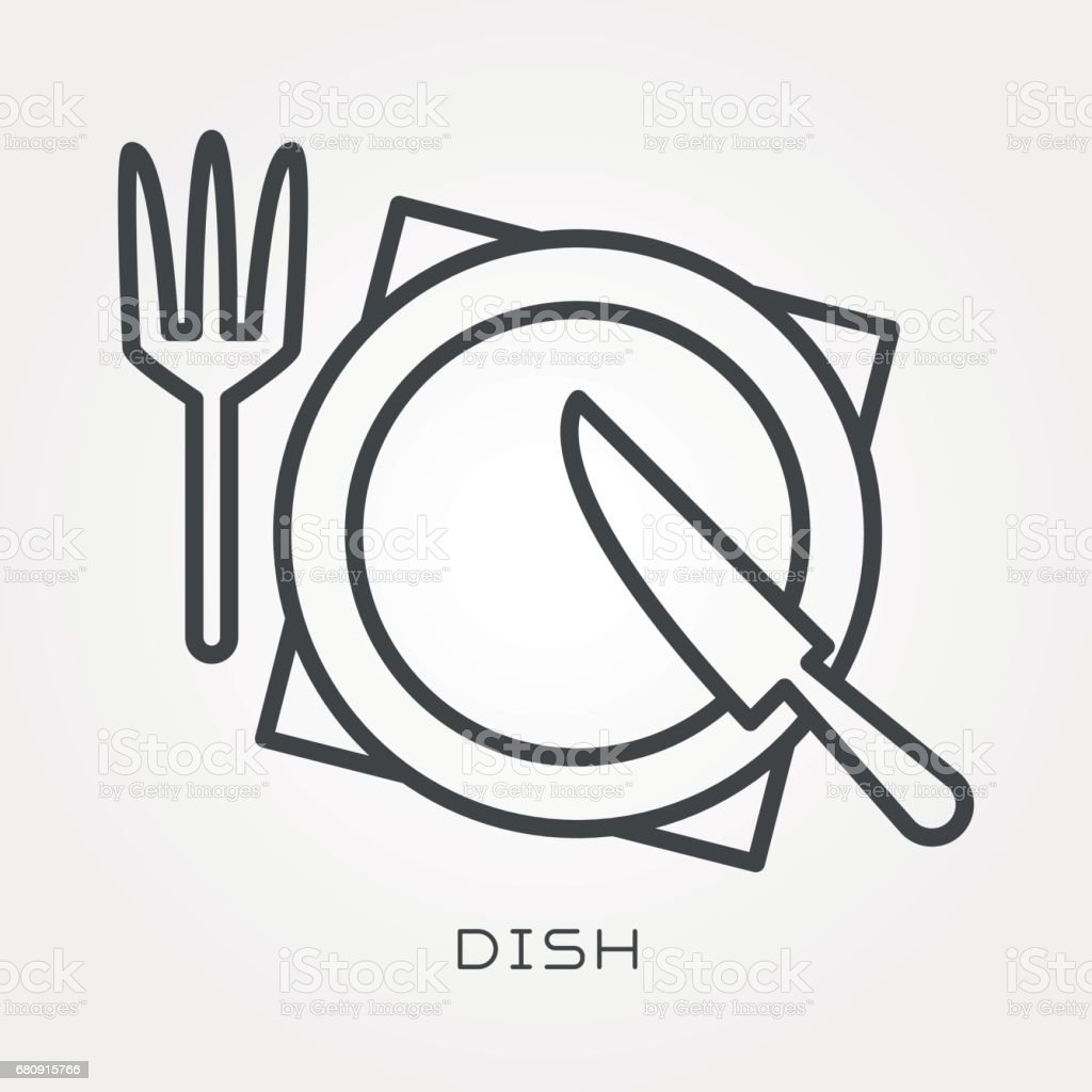 Line icon dish royalty-free line icon dish stock vector art & more images of appliance