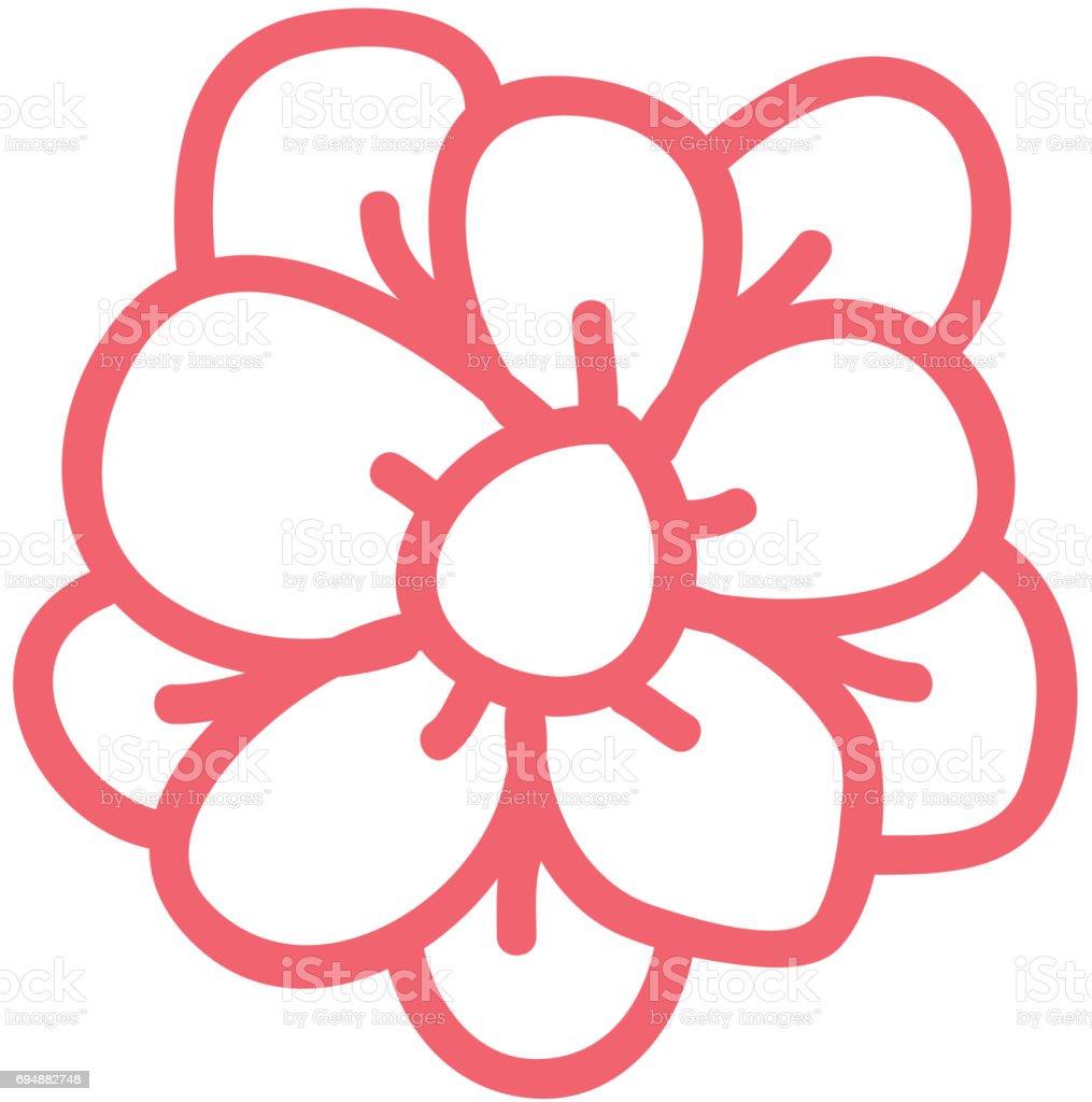 line icon flower cartoon vector vector art illustration