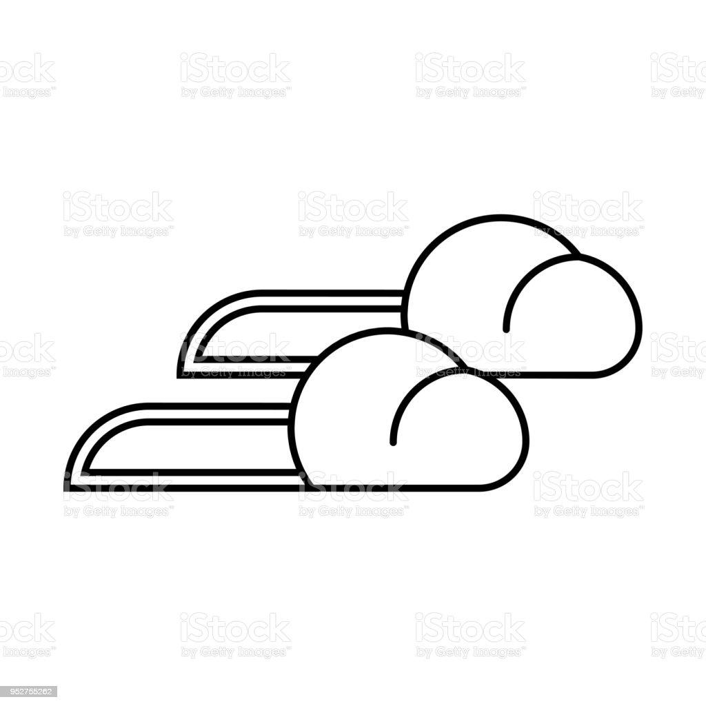 Hausschuhe Vektor Symbol. Schwarz Und Weiß Lizenzfrei