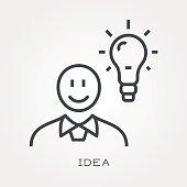 Line icon idea