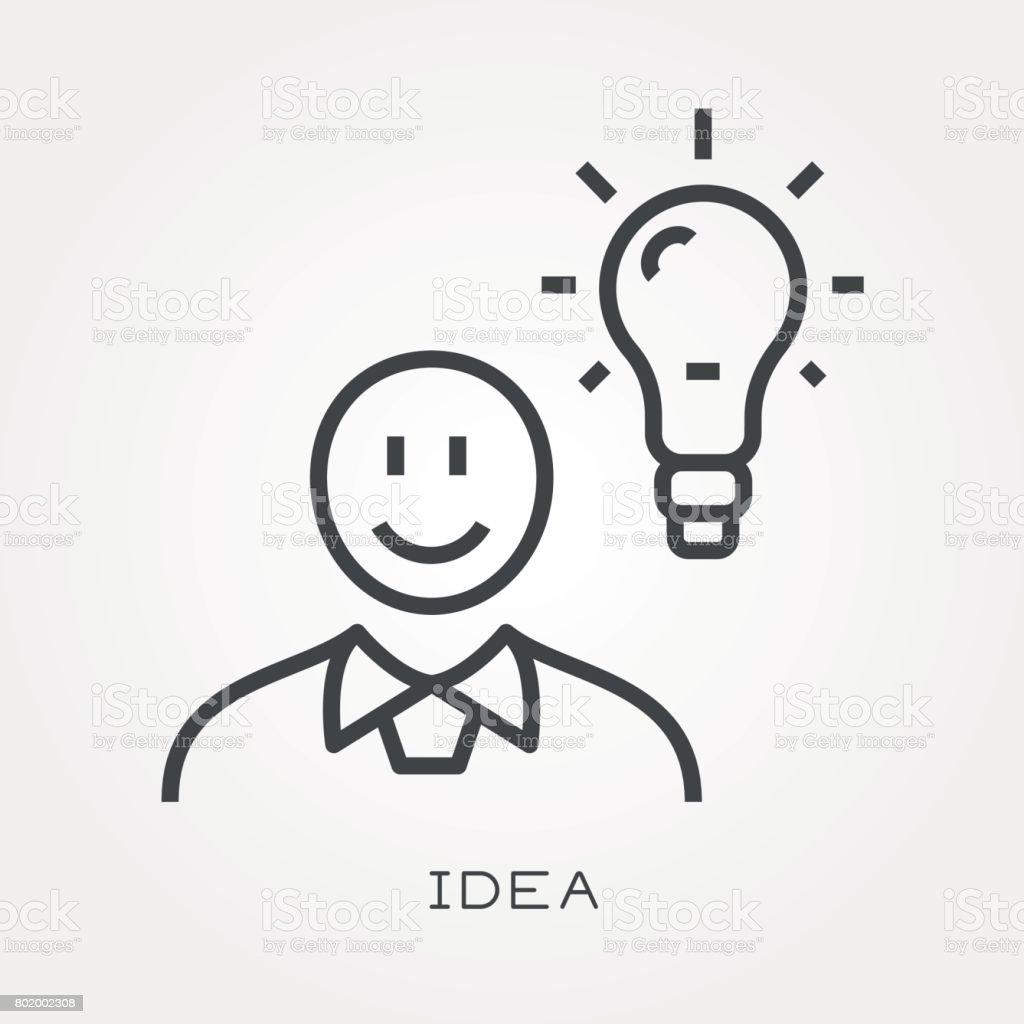 Line icon idea vector art illustration