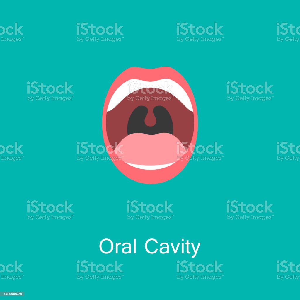 Line icon mouth with teeth.