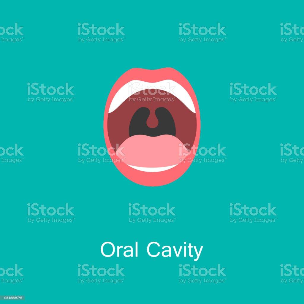 Line icon mouth with teeth. - ilustração de arte vetorial