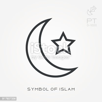 Line Icon Symbol Of Islam Stock Vector Art More Images Of Abstract