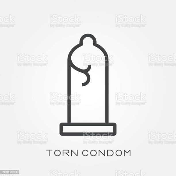 破れ た コンドーム
